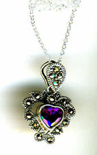 Marcasite Sterling Silver Amethyst Fine Necklaces & Pendants