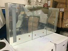 Boxed New Illuminated Tripple Mirror with storage cabinets all one piece