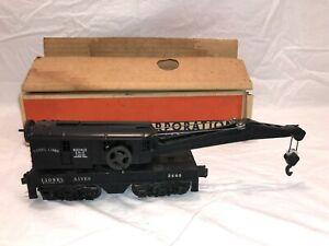 Lionel No. 2460 Operating Work Crane  Boxed  OB  Postwar