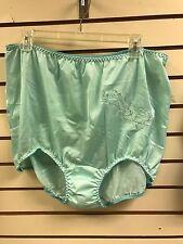 (2) Contessa Nylon Brief Panties w/ Applique Mint Green Plus Size 16 / 9X