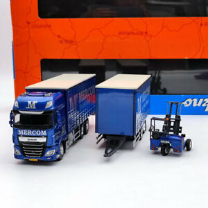 Tekno 1:50 Mercom DAF XF Euro 6 SSC Truck And Trailer With Moffet Forklift 75410