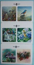 Coasters (6) Bird Flowers Double Sided squares New 2019 Boys Town cardboard