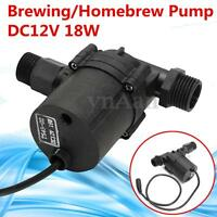 12V DC 18W Brewing Pump For Craft Homebrew Beer Wort Mash Circulation Parts New