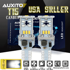921 T15 W16W Rear Reverse Backup Lights LED  Bulb 2400LM CANBUS For Chevrolet