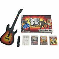 Playstation 3 Sunburst Guitar Hero Wireless Controller PS3 World Tour No Dongle
