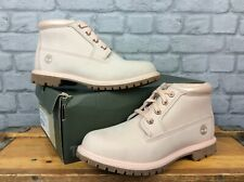 TIMBERLAND LADIES UK 7 EU 40 NELLIE CHUKKA DOUBLE PALE PINK LEATHER BOOTS £125