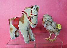 2 ANIMALI PELUCHE VINTAGE STEIFF GERMANY: PONY E PULCINO