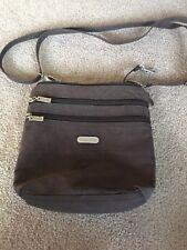 Baggalini Handbag Crossbody Brown Purse Travel Organizer Adjustable Strap