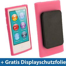 Pink Rosa Gel Clip Tasche für Neu Apple iPod Nano 7. Gen Generation 7G 16GB Etui