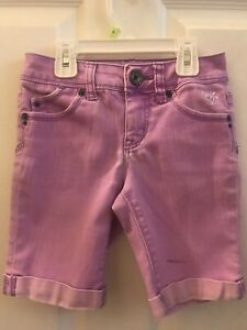Girl's Justice Premium Brand Purple Shorts Size 8s Preowned With Marker Stain