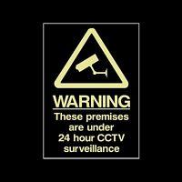 MISC12 Adesivo-Tutte le Taglie e materiali-sicurezza Videocamera CCTV Firmare avvertenza