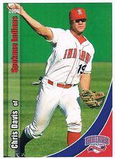 Chris Davis EARLIEST Pre Rookie RC 2006 Spokane Indians Baseball 33 Card SET HOT