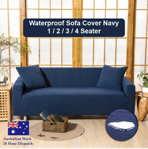 Premuim Sofa Cover Navy Couch Covers 1 2 3 4 Seater Lounge Slipcover Protector