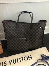 LOUIS VUITTON Neverfull GM Damier Ebene Tote Hand Bag & Pochette