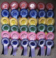 Candy stripe Rosettes 6 x 1st to 6th 2 tier SHOW NAME INCLUDED,