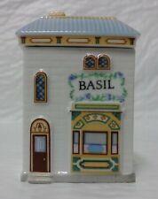Vintage 1989 Lenox Spice Village Fine Porcelain Spice Jar Basil