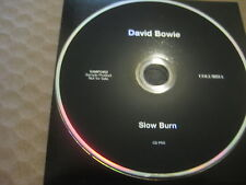 DAVID BOWIE Slow Burn RARE AUSSIE 1 TRACK PROMO CD SINGLE 2002 - SAMP 2482