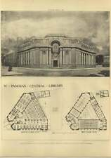 1906 St Pancras Central Library, Plans Plan Russell, Cooper