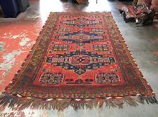 Caucasian Soumak Kilim Flat Weave Rug 6x10.5ft. Gorgeous Natural Dyes Mint Cond