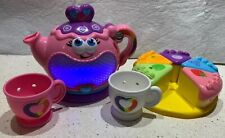 Lot Leapfrog Musical Rainbow Tea Party Replacement Cake Pieces Plate Teapot
