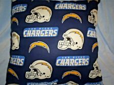 "16""x16"" Handmade Pillow-San Diego Chargers Cotton Print w/Blue Back"