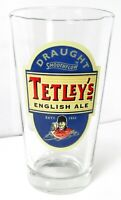 Tetley's English Ale Draught Smoothflow Pint Glass Beer Barware