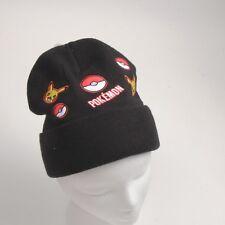 Pokemon Go Woolen Hats/Plush Hat/Caps Black- GORRO DE POKEMON PICACHU C5