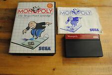 Jeu MONOPOLY pour Sega MASTER SYSTEM COMPLET