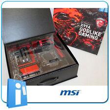 Plaque base X99 MSI X99A DIVINE JEU Douille 2011 V3 avec Accessoires