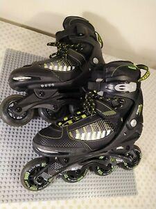 No Fear  Edge Skates Inline Hook and Loop Size UK 4-6.5 Bindings Tested