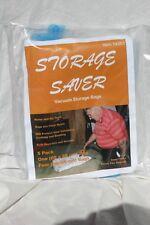 Storage Saver, vacuum storage bags, clear plastic bags and blue valve & zipper