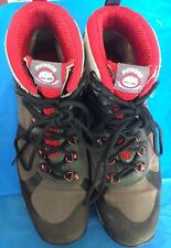 Timberland Outdoor Performance Gray/Red Leather Hiking Boots Women's  8.5 PICS!