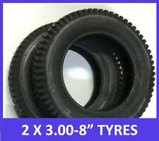 "2 x 3.00 x 8"" Mobility Scooter Tyres. Black. Top Quality"