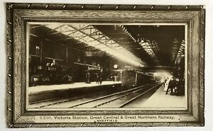 VINTAGE RP POSTCARD.VICTORIA STATION. G.C & G.N RAILWAY. SHEFFIELD IN YORKSHIRE