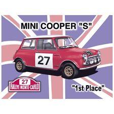 "Mini Cooper Sign 12 x 16"" S Vintage Metal British flag Heavy duty 24 Gauge Steel"