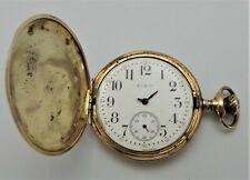 Watch - c1917 - Spares Or Repair Antique Elgin Gold Plated Full Hunter Pocket