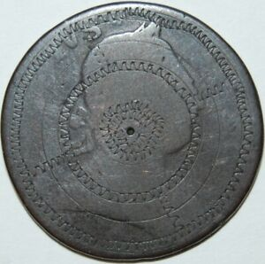 1774 George 111 Colonial Copper Half Penny, Revolutionary War Era Coin Engraved!