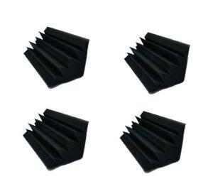 4 pcs Acoustic Foam Black Bass Trap Soundproof Corner Wall Studio Home 10x5x5