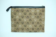 100% Authentic MCM Brown Cloth Canvas Small Pouch
