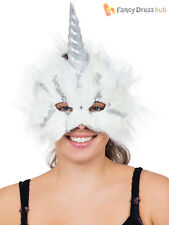 Adults Unicorn Mask Mens Ladies Magical Fairytale Fancy Dress Accessory Cosplay