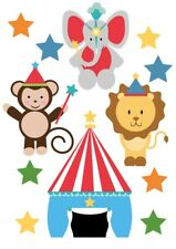Circus Animals Fun Fair Big Top Childrens Nursery Wall Stickers