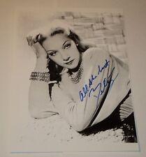 "BELITA / 1940s & 50s MOVIE STAR /  5 7/8  x 8 1/4""  B&W  AUTOGRAPHED  PHOTO"