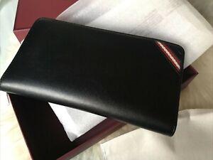 BALLY:Portefeuille en cuir noir 21x11x2cm NEUF Prix boutique:500 euros