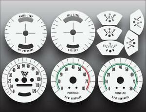 1965-1967 Pontiac GTO Rally Sport Dash Instrument Cluster White Face Gauges