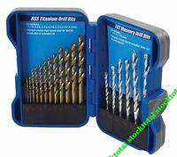 Brocas HSS Titanio y brocas TCT para mampostería, 19 pzas Juego de brocas 633805