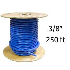"250 ft 3/8"" ID Flexfab 5526 Silicone Heater Hose Blue 350F 10mm Coolant Radiator"