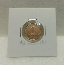 MALAYA & BRITISH BORNEO 1cent coin 1962  High Grade #13