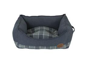 """Snug & Cosy 30"""" Grey Checker Square Bed *FREE P&P*"""