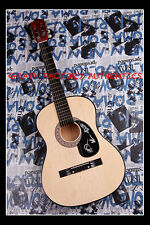 GFA British Electronic Band * LONDON GRAMMAR *  Signed Acoustic Guitar AD2 COA