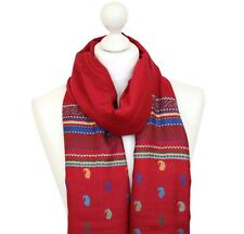 Fine Pash Indian Paisley Scarf Shawl Stole Wrap Woven Ladies Spring Scarves UK